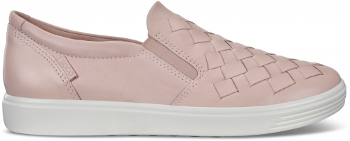 Ecco Womens Soft 7 Woven Sneakers Size 4/4.5 Rose Dust Trainer
