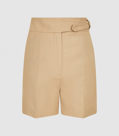 Reiss Ada - Tailored With Waist Detail Camel, Womens, Size 6 Short