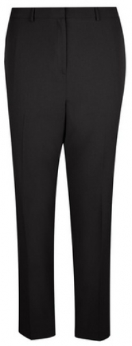 Dorothy Perkins Dp Curve Black Elastic Back Ankle Grazer Trousers Trouser