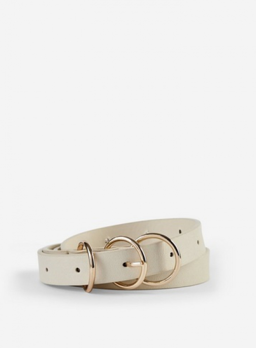 Dorothy Perkins Cream 3 Buckle Belt