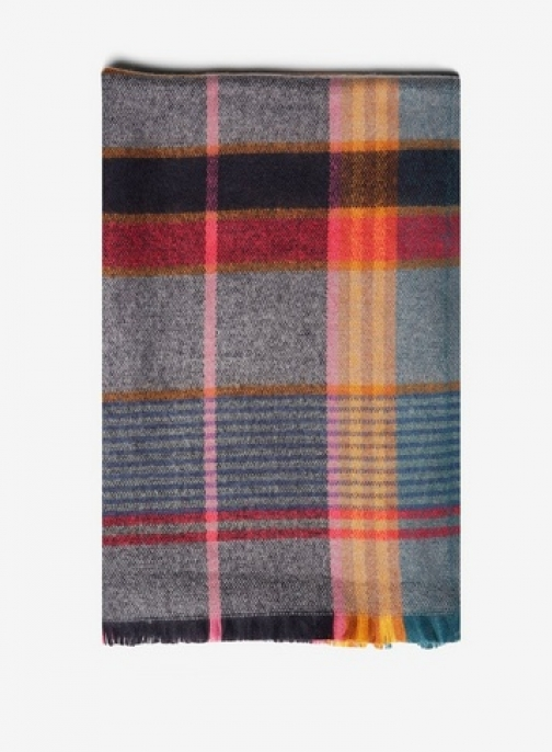 Dorothy Perkins Womens Multi Pop Check - Multi Colour, Multi Colour Scarf