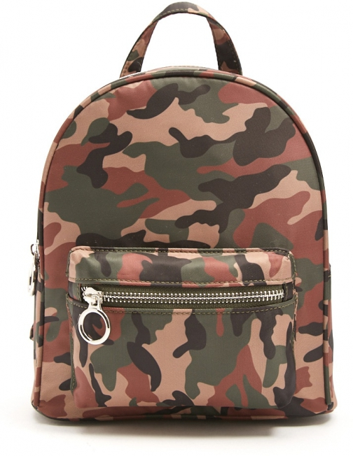 Forever21 Forever 21 Camo Print Green/multi Backpack