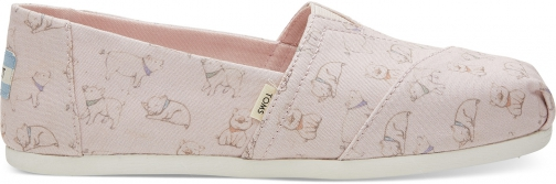 Toms Pink Pig Canvas Women's Classics Slip-On Shoes