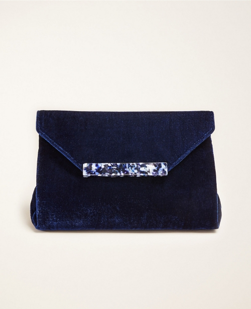 Ann Taylor Velvet Bar Clutch