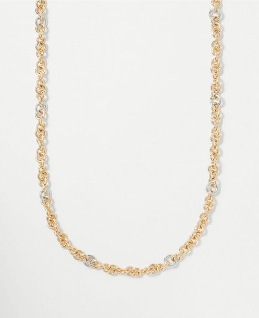 Ann Taylor Mixed Metal Chain Necklace