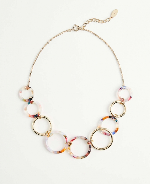Ann Taylor Pearlized Statement Necklace