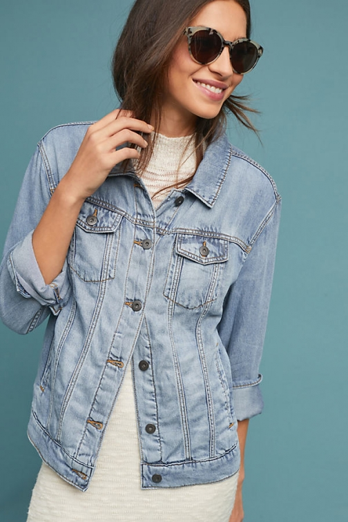 Pilcro And The Letterpress Pilcro Boyfriend Denim Trucker Jacket