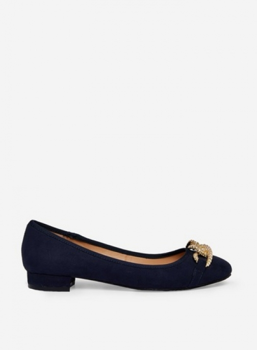Dorothy Perkins Wide Fit Navy 'Porto' Pumps
