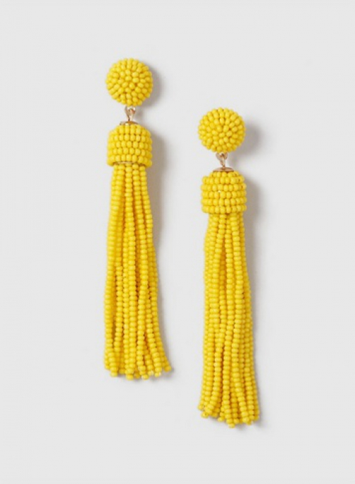 Dorothy Perkins Yellow Bead Tassel Earring