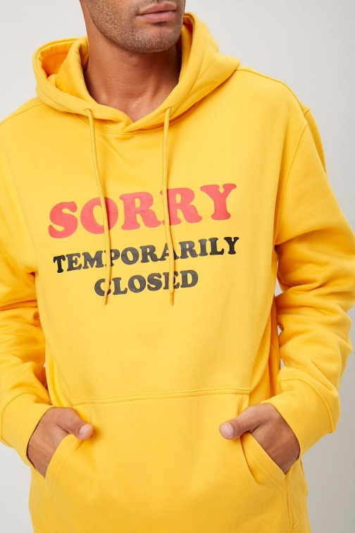 21 Men Sorry Graphic At Forever 21 , Mustard/black Hoodie