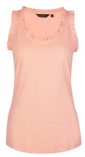 Dorothy Perkins Coral Ruffle Shoulder Vest Top