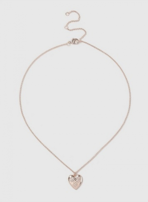 Dorothy Perkins Rose Gold Heart Charm Ditsy Necklace