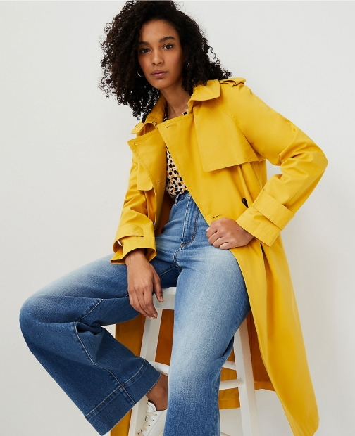Ann Taylor Petite Twill Trench Coat
