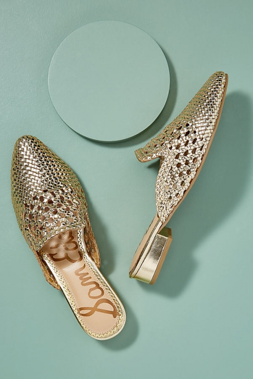 Sam Edelman Clara Woven-Leather Slip-on Flats