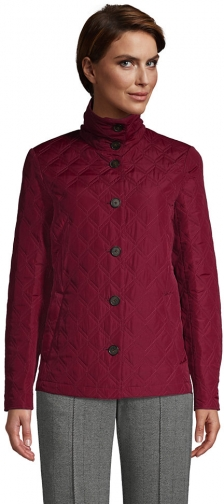Lands' End Women's Insulated Packable Quilted Barn - Lands' End - Red - XS Jacket