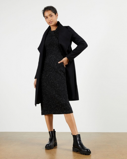 Ted Baker Long Wrap Coat Jacket