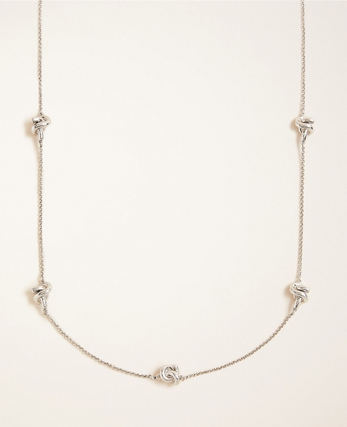 Ann Taylor Knot Station Necklace