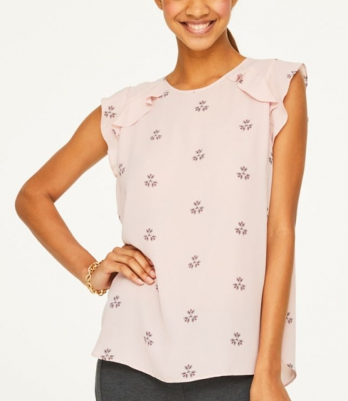 Loft Medallion Flutter Shell Shirt