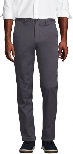 Lands' End Men's Stretch Traditional Fit Flannel Lined Knockabout Pants - Lands' End - Gray - 30 Chino