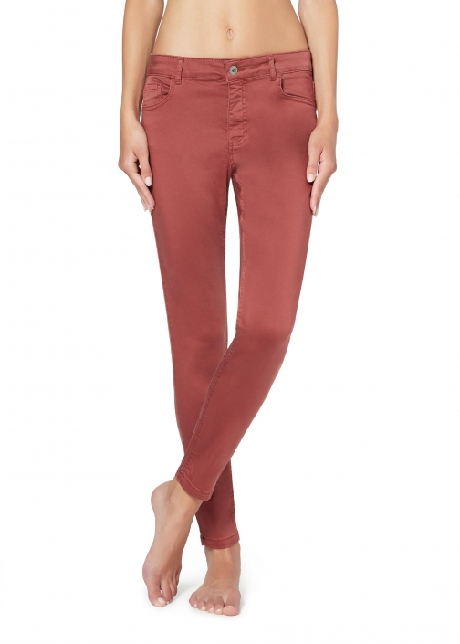 Calzedonia - Sexy-Slim-Fit Lightweight , M SHORT, Red, Women Jeans