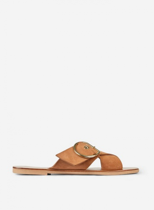 Dorothy Perkins Brown Leather 'Jay Jay' Tan Sandals