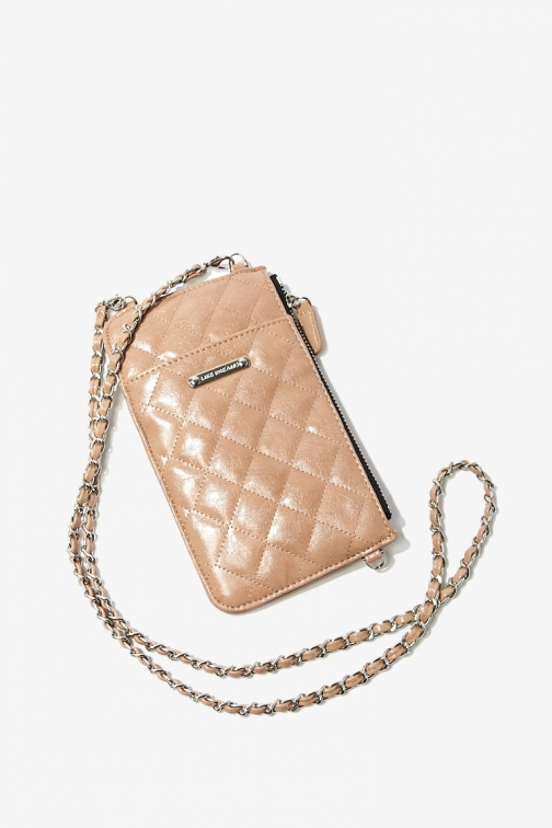 Forever21 Forever 21 Quilted , Nude Crossbody Bag