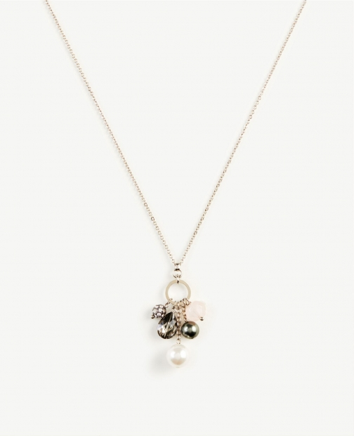 Ann Taylor Pearlized Pendant Necklace