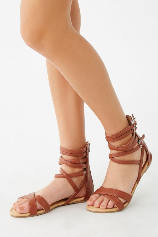 Forever21 Forever 21 Strappy Faux Leather , Tan Sandals