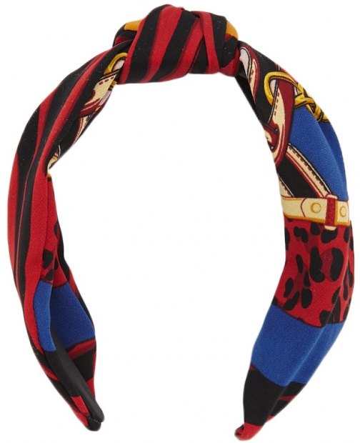 Forever21 Forever 21 Striped Print Headband Blue/red Headwear