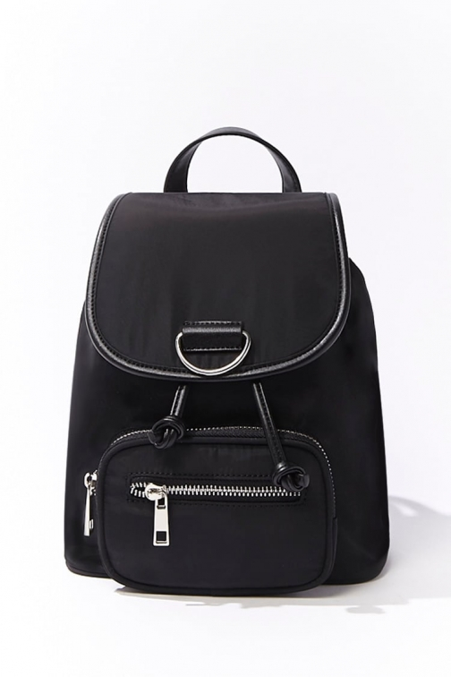 Forever21 Forever 21 Drawstring Mini , Black Backpack
