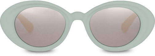 Toms Traveler By TOMS Rossio Matte Aqua Glass With Pink Mirror Lens Sunglasses