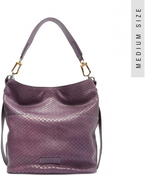 Schutz Shoes Mandy Snake-Embossed Leather Hobo - O/S Orchid Snake Embossed Leather Bag