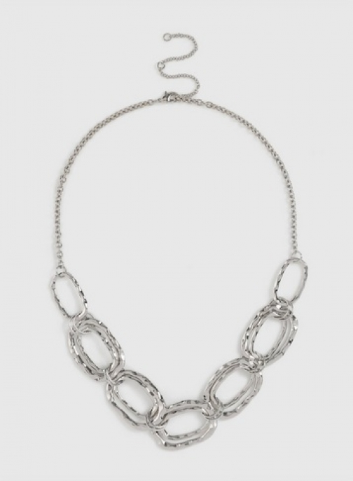 Dorothy Perkins Silver Hammered Necklace