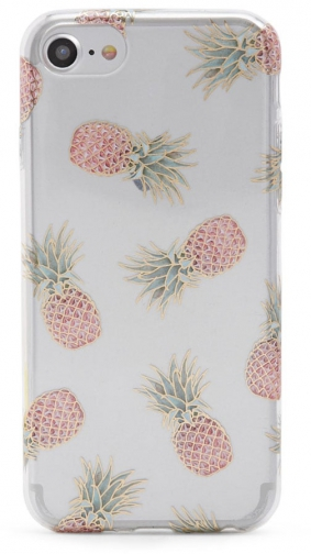 Forever21 Forever 21 Pineapple Print Phone For IPhone 6/7/8 , Clear/multi Case