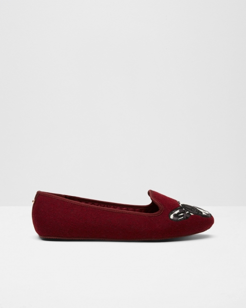 Ted Baker Puppy And Paw Oxblood Slipper
