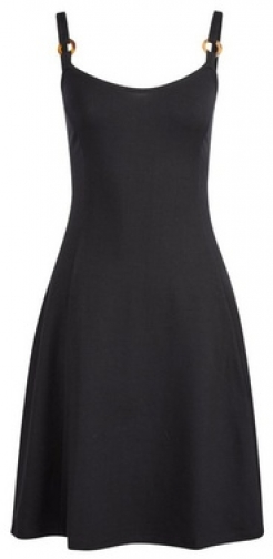 Dorothy Perkins Black Strap Fit And Flare Dress