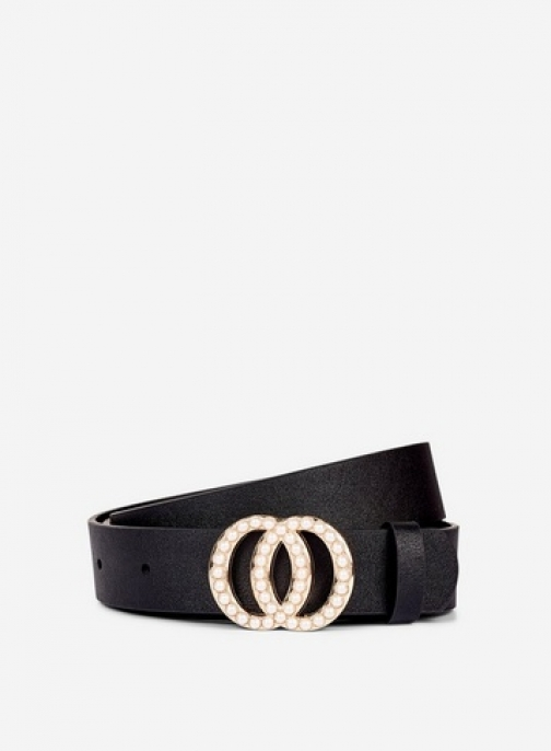 Dorothy Perkins Black Pearl Double Circle Belt