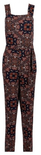 Dorothy Perkins Navy Paisley Print Strappy Jumpsuit
