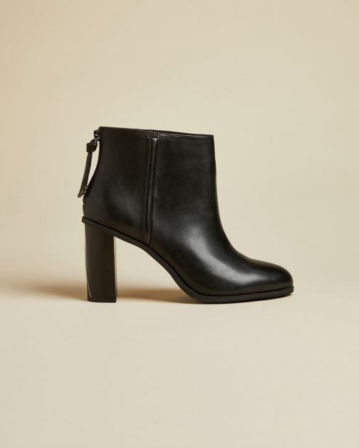 Ted Baker Leather Block Heel Ankle Boot