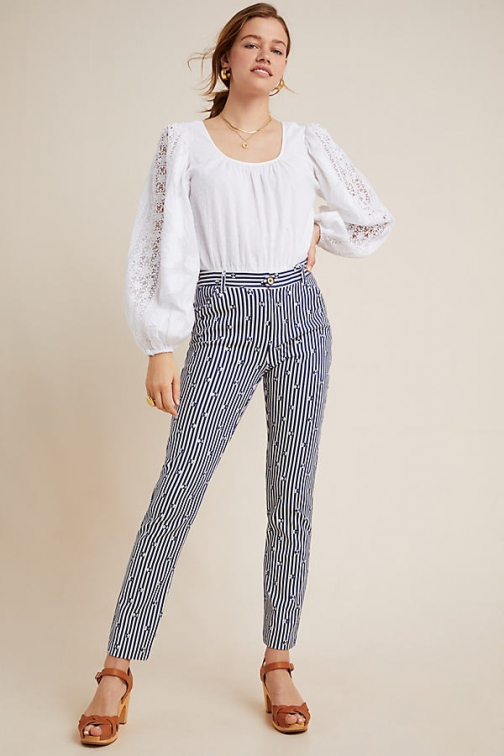 Anthropologie The Essential Slim Trouser