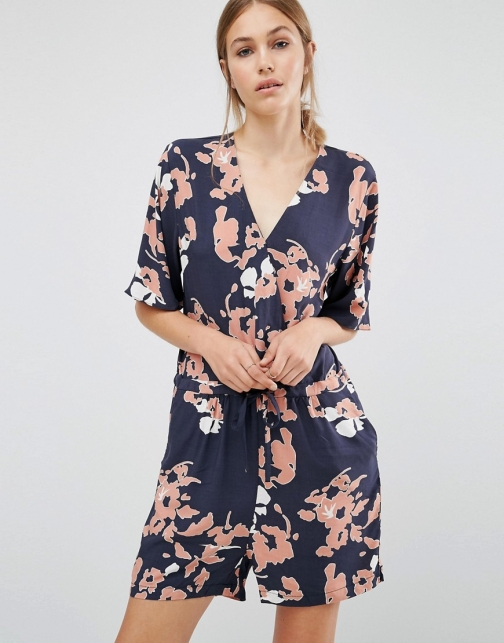 Just Female Floral Playsuit
