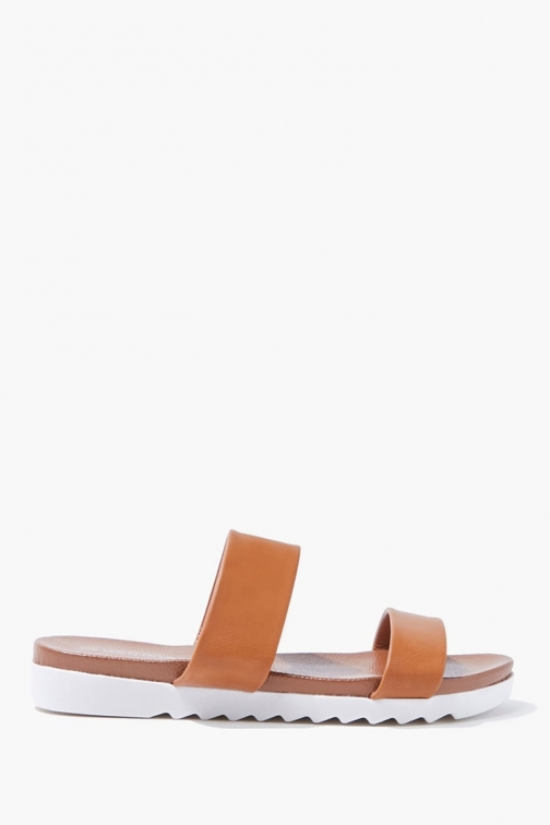 Forever21 Forever 21 Open Toe , Brown Sandals