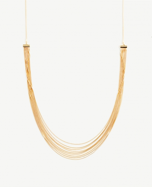 Ann Taylor Chain Pull Through Necklace