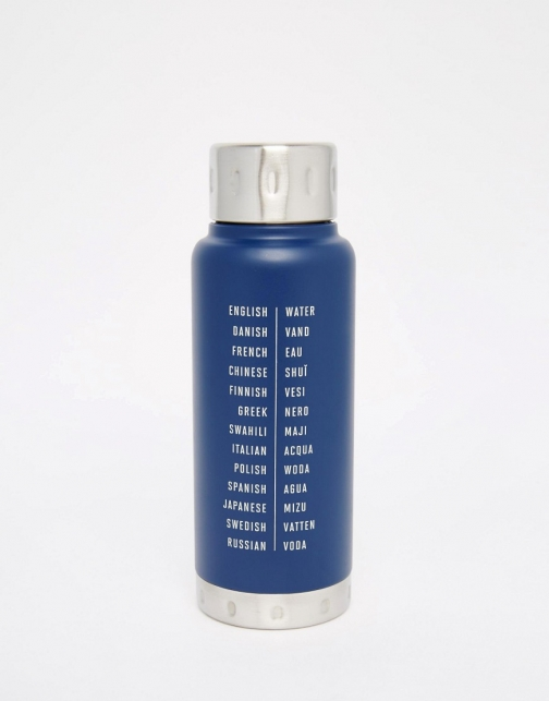 Asos Men's Society Water Bottle Hot/Cold Flask Flask 10oz Accessorie