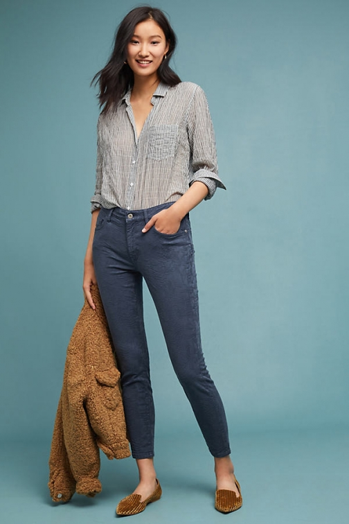 Anthropologie Pilcro High-Rise Skinny Ankle - Blue, Size Jeans