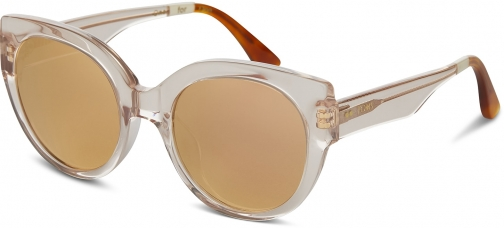 Toms Luisa Champagne Cry Rose Mirror With Rose Mirror Lens Sunglasses