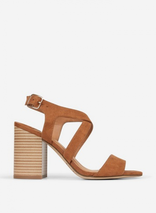 Dorothy Perkins Wide Fit Tan 'Spye' Crossover Sandals