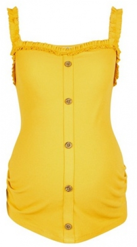 Dorothy Perkins Maternity Yellow Frill Vest Top