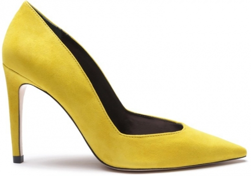 Schutz Shoes Guinewer Pump - 5 Yellow Suede Pumps