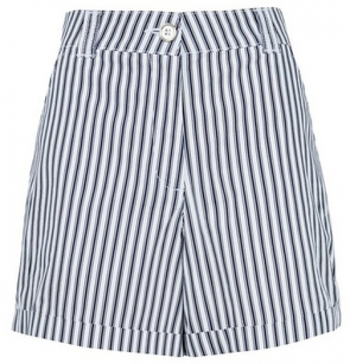 Dorothy Perkins Navy Stripe Print Short